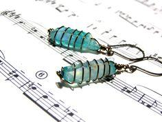 Aqua Aura Earrings Titanium Crystal Earrings Crystal Healing Jewelry Most Popular Jewelry Top Selling Jewelry Beaded Jewelry by LunaEssence on Etsy