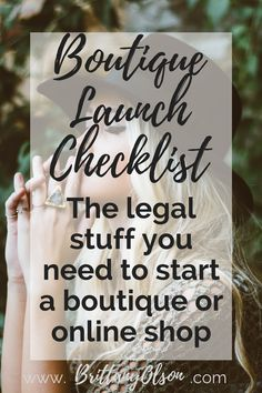 Boutique Launch Checklist for Obtaining Your Business Licenses, Finding Wholesalers, and Choosing an Ecommerce Platform