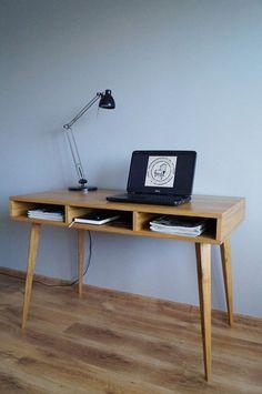 Work desk Biurko Where are the drawers by PracowniaEMBE on Etsy Work Desk, Office Desk, Drawers, Etsy, Furniture, Home Decor, Homemade Home Decor, Desk Office, Desk