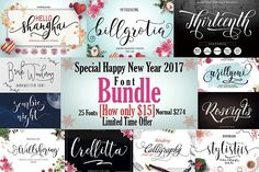25 Font Bundle-95% OFF by moriztype on @creativemarket
