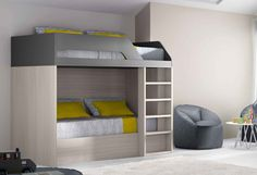 Single Loft Bed with Storage – Contemporer Bed Storage Ideas Cabin Bed With Storage, Single Beds With Storage, Lift Storage Bed, Kids Beds With Storage, Storage Bed Queen, Trundle Bed With Storage, Bunk Beds With Drawers, Bunk Beds With Stairs, Storage Ideas