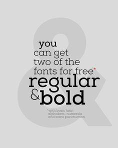 Nexa Slab regular & bold #freebie