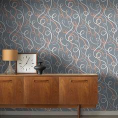 Rasch Ribbons Geometric Orange Grey Glitter Wallpaper - http://godecorating.co.uk/rasch-ribbons-geometric-orange-grey-glitter-wallpaper/