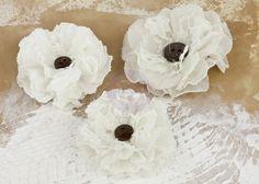 Tejido hecho a mano de flores prima flores Tela de La colección Romantique de encaje