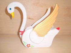 Unique and beautiful Wooden Swan by Gem2thei on Etsy