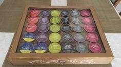 Caixa para cápsulas da cafeteira Dulce Gusto, personalizada, podendo ser alterado a cor ou detalhe de decoração.