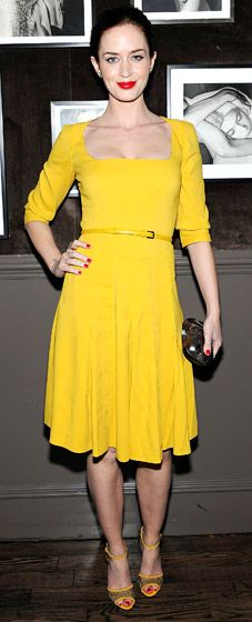 We're always super jealous of girls who can pull off bright yellow (nicely done, Emily Blunt!)