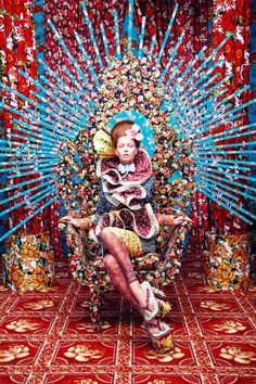 The intensely colorful fashion photography of Tejal Patni (The set/background makes for good home decor inspiration, too. Foto Fashion, Fashion Art, Editorial Fashion, Fashion Design, Dress Fashion, Indian Fashion, Fashion Poses, Fashion Gallery, Vogue Fashion