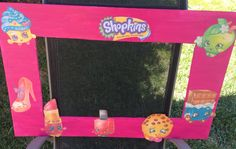 Shopkins photo prop #DIY #shopkins#props#party photo frame
