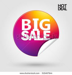 Big Sale sticker. Hot Deal icon. Weekend Sale discount wallpaper. Marketing Sale banners design. Vector Instagram. Big Sale, Cyber Monday, Black Friday, Sale stickers, Sale tag, Sale ribbon label 2016