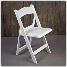 Resin Folding White Chair