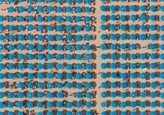 Munich-based photographer Bernhard Lang has created a series of impressive aerial photos of Italian beach resorts in Adria. Symmetry Photography, World Photography, Photography Awards, Abstract Photography, Aerial Photography, Photography Ideas, Beach Photography, Color Photography, Photo Ciel