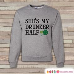 Have you seen our newest item yet?  Adult St. Patrick.... Check it out here! http://7ate9apparel.com/products/adult-st-patricks-day-funny-st-patricks-sweatshirt-drunker-half-drinking-shirts-matching-shirts-grey-pullover-adult-crewneck?utm_campaign=social_autopilot&utm_source=pin&utm_medium=pin