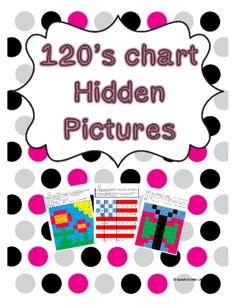 Hidden Pictures 120's Chart Variety Pack from SarahWinter on TeachersNotebook.com -  (12 pages)  - Hidden Pictures 120's Chart Variety Pack - set of 8