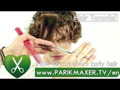 How to cut short curly hair. Renat Murzagaleev. parikmaxer tv english version