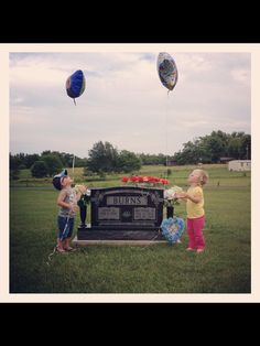 Honoring a father and/or grandfather for father's  day with a balloon release with your children.... Great way to celebrate a loved one in heaven!!