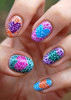 """Dressed Up Nails: Dotty hearts!"""