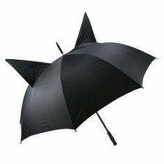 Umbrella with little cat ears CAT EAR black/ black: Amazon.co.uk: Kitchen & Home