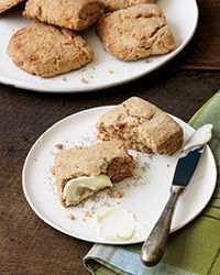 Whole-Wheat Buttermilk Biscuits Recipe on Food & Wine -Chef Lance Gummere makes these incredible biscuits with just a little bit of cheddar cheese to give them a savory flavor.