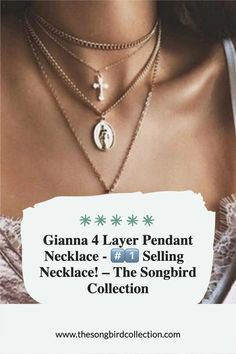 Layering made easy! Gianna 4 Layer Necklace features a cross pendant and old-world European charms all in one ready to wear necklace. Layer Necklace, Pretty Necklaces, Cross Pendant, Layering, Charms, Women Jewelry, Chokers, Passion, Pendant Necklace
