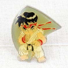 Street Fighter 2 Metal Pins Badge Ryu Capcom Character JAPAN GAME 3