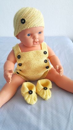 Knit Baby romper  hats booties set for baby baby boy by NesrinArt