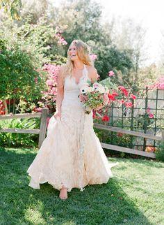Amy Michelson bohemian wedding dress | Photography: Jose Villa - http://josevilla.com/