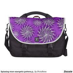 Spinning stars energetic pattern purple
