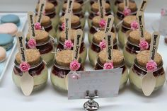 Shabby Chic First Birthday ~ Featured Party | Cheesecake in a jar  #shabbychic #party #ideas #partyideas