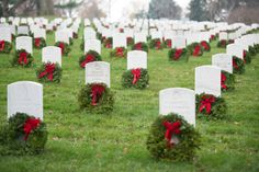 Wreaths Across America event in Arlington National Cemetery on December 12, 2015.