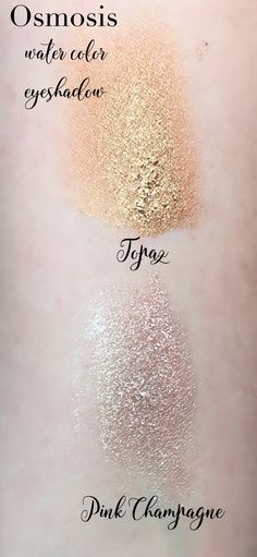 Osmosis Water Color Eyeshadow | Pink Champage and Topaz daydreamingbeauty.com