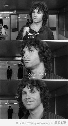 Just Jim Morrison being Jim Morrison. Famous Clip.