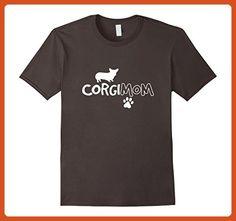 Mens Corgi Mom Shirt Funny Cute Dog Pet Owner Adopt Rescue Gift Medium Asphalt - Animal shirts (*Partner-Link)