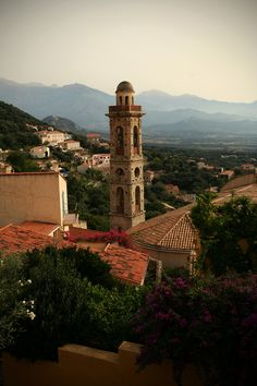 Church tower in Lumio, Corsica | France.     (via TumbleOn)