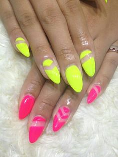 The 95 Best Acrylic And Gel Nail Art Work In Yellow Colour Neon