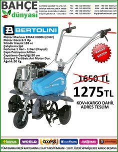 ITALYAN BERTOLINI 202 ÇAPA MAKİNESİ 6,5 HP MOTOR - 1+1 İLERLEME  ADRES TESLİM 1275 TL.  http://www.bahcedunyasi.com/toprak-isleme-urunleri/capa-makinesi/bertolini-capa-mak/bertolini-202-e-6-5hp.html