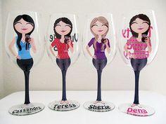 Create a Character Wine Glasses Character by JennyDsCustomDecor