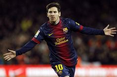 Messi celebra el tercer gol del Barça frente al Atlético
