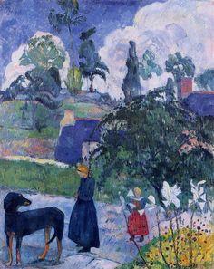 Поль Гоген. Картина «Среди лиллий»