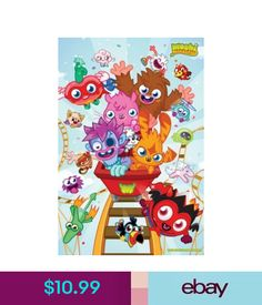 Posters Moshi Monsters Rollercoaster Poster 60X90Cm Katsuma Furi Luvli Poppet #ebay #Collectibles