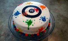 Paintball birthday cake...Tyler's birthday this year:)