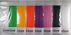 RiverBug tube fly body tubings. Outerdiameter 2.5 millimeters. These are more hard plastic than regular tubings and wery easy to tie. Green, Yellow, Orange and Purple are UV-reflective materials. #riverbug #tube #tubefly #tubeflytying #body #bodytubing #plasticpipe #pipe #hose #silicone #flytying #fly #flyfishing #putkiperho #perho #tubfluga #fliegen #perhonsidonta #riverbugfinland  www.riverbug.fi