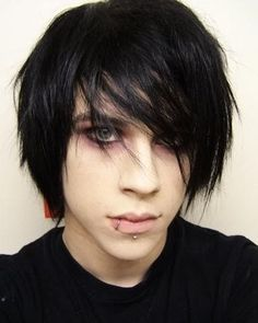 gothic hair styles and makeup | Goth Hairstyles For Guys Emo Hairstyles Zimbio | Celebrity Inspired ...