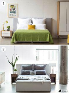 One bed, two styles. Which do you like best?