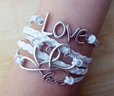 Heart braceletlove bracelet double heart by TheBraceletGift, $5.99