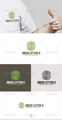 Green Letter S Logo  #GraphicRiver         Fully Editable Logo, AI, EPS