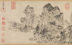 Landscape in the Style of Yan Wengui and Fan Kuan Artist: Zhao Yuan (Chinese, active ca. 1350–75) Period: late Yuan (1271–1368)–early Ming (1368–1644) dynasty Culture: China Medium: Handscroll; ink on paper