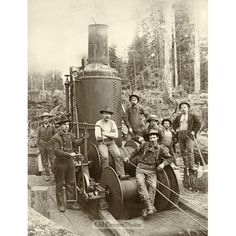 Logging Crew with Their Steam Donkey - Ford