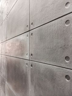 Off Shutter Cladding. Available in 16 colours and 4 sizes - - - Concrete Wall Panels, Cement Walls, Concrete Facade, Concrete Interiors, Concrete Furniture, Beton Design, Concrete Design, Office Interior Design, Office Interiors