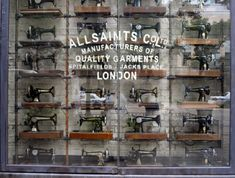 Image result for all saints sewing machine window display